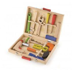 Drewniana walizka- skrzynka z narzędziami