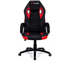 Fotel gamingowy FLAME PLUS czerwony PRO-GAMER dla graczy PODKŁADKA PRO-GAMER 80x45cm GRATIS