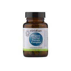 Ekologiczny kompleks ziół dla kobiet Organic herbal famale complex 30 kapsułek Viridian