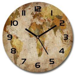 Zegar szklany na ścianę Mapa polityczna