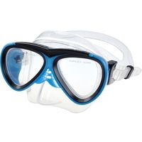 Maski, płetwy i fajki, Waimea Maska do nurkowania PVC maska do nurkowania, niebieska, czarna, One Size