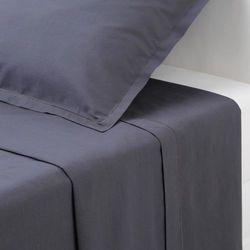 Bawełniane prześcieradło - kolor ciemnoszary, 180 x 290 cm