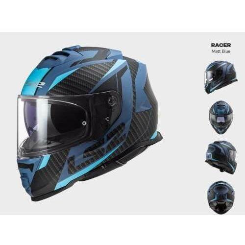 Kaski motocyklowe, KASK MOTOCYKLOWY LS2 FF800 STORM RACER MATT BLUE - kolekcja 2021