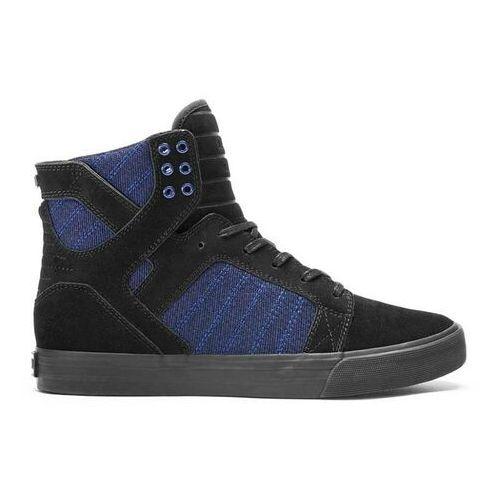 Męskie obuwie sportowe, buty SUPRA - Skytop Black/Blue Heather-Black (BKB) rozmiar: 41