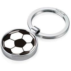 Chromowany brelok do kluczy z piłką nożną