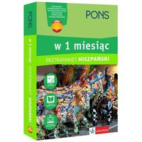 Książki do nauki języka, Hiszpański w 1 miesiąc z 3 tablicami językowymi i kursem online (opr. twarda)