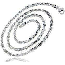 Gruby srebrny łańcuszek żmijka linka snake 45 cm srebro 925 ML123