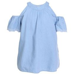 Abercrombie & Fitch HIGH NECK COLD SHOULDER Tunika chambray