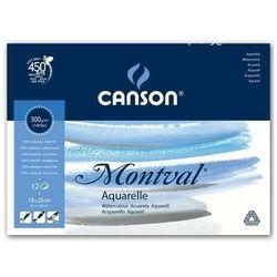 Blok do akwareli CANSON Mont-Torch 18x24 300g.