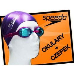 Zestaw okulary + czepek Speedo Jet purple