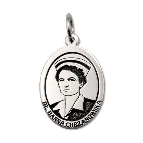 Pozostała biżuteria, Medalik srebrny z wizerunkiem bł. hanny chrzanowskiej med-h.chrzanowska-01