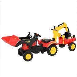 Traktorek z przyczepka + Koparka