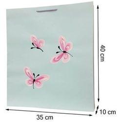 Torebka ozdobna prezentowa ręcznie malowana 40x35 - motylki