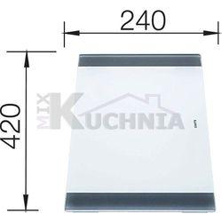 Deska BLANCO ze szkła mlecznego 420x240x15mm (219645)