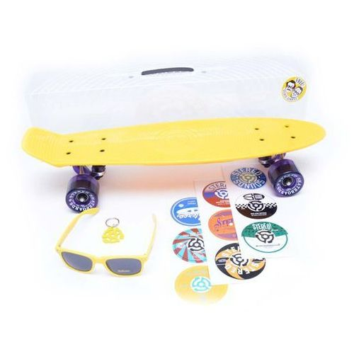 Pozostały skating, cruiser STEREO - Vinyl Plastic Cruiser Yell/Raw/Trans Purp (YELL RAW TRANS PURP) rozmiar: OS