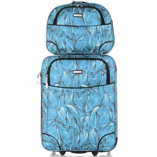 Torby i walizki, Pojemne Zestawy Walizek 2w1 w modne wzory renomowanej firmy Madisson Multikolorowe Niebieskie (kolory)