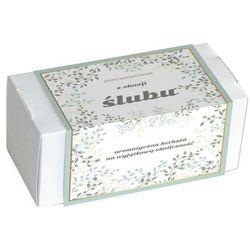 Zestaw herbat z okazji Ślubu - elegancki box z 20 saszetkami herbat sypanych o różnych smakach i rodzajach 20x 5g/8g