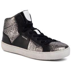 Sneakersy GEOX - D Warley B D92FBB 0KYBC C0474 Czarny Srebrny
