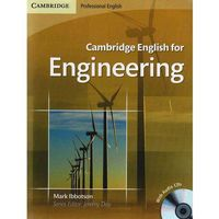 Książki do nauki języka, Cambridge English For Engineering + Cd (opr. miękka)