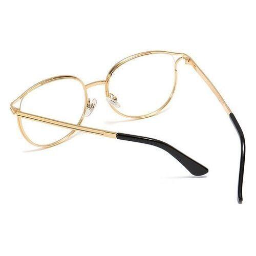 Pozostała galanteria, Okulary zerówki damskie złote kocie oko czarne