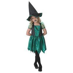 Kostium Zielona czarownica w pajęczyny dla dziewczynki - Roz. M