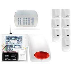 ZA12546 Zestaw alarmowy DSC 7x Czujnik ruchu Manipulator LED Powiadomienie GSM