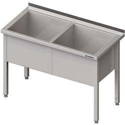 Stół z basenem dwukomorowym STALGAST 1500x700x850 h 400mm 981387150