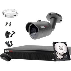 Kompletny system monitoringu: Rejestrator LV-XVR44SE-II, 1x Kamera LV-AL30HT, 1TB, Akcesoria