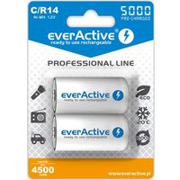 "Akumulatorki, 2x everActive R14/C Ni-MH 5000 mAh ready to use ""Professional line"""