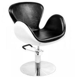 GABBIANO Fotel Fryzjerski Amsterdam Czarno-Biały