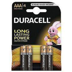 Baterie alkaliczne Duracell Basic AAA LR03 1,5V, 4 szt.