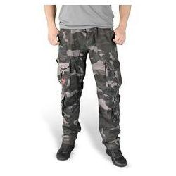 Spodnie SURPLUS AIRBORNE SLIMMY Black Camo Washed (05-3603-42)
