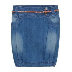 """Spódnica dżinsowa dziewczęca z paskiem bonprix niebieski """"stone"""""""