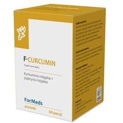 F-Curcumin Kurkumina indyjska 475mg + piperyna indyjska 9,5mg 60 porcji 30,6g ForMeds