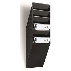 Uchwyt ścienny na prospekty, format pionowy, 6 x DIN A4, opak. 2 szt., czarny. N