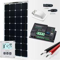 Baterie słoneczne, Zestaw zasilania solarnego do Kampera 110W - Premium