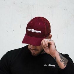 GymBeam Bejsbolówka Mesh Panel Cap Burgundy