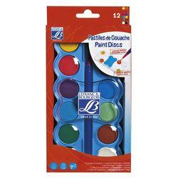 LB EDU farby tempery z pędzlem 12 kolorów 30mm