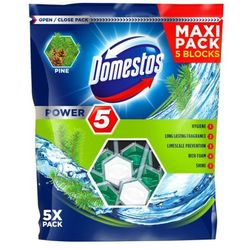 Kostka toaletowa Domestos Power 5 Pine 5 x 55 g
