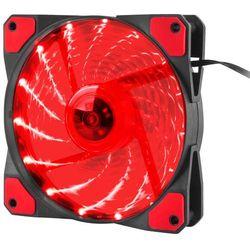NATEC Wentylator do zasilacza/obudowy Genesis Hydrion 120 czerwony LED