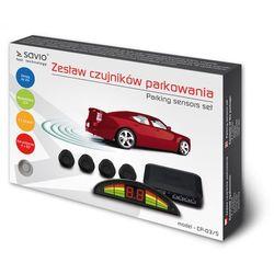 SAVIO Czujnik parkowania, wyświetlacz ze wskazaniami dla każdego z czujników Savio CP-03/S, srebrny