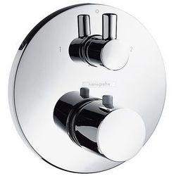 Hansgrohe bateria termostatyczna Ecostat S z zaworem odcinająco-przełączającym, montaż podtynkowy, element zewnętrzny 15721000