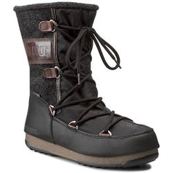 Śniegowce MOON BOOT - W. E. Vienna Felt 24004400002 Black-Dark Brown