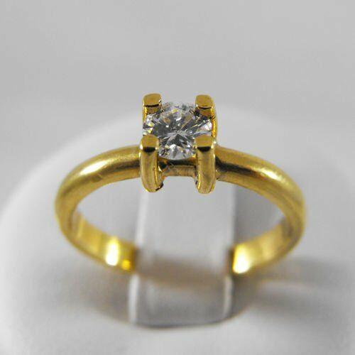 Pierścionki i obrączki, Złoty pierścionek z brylantem P1424