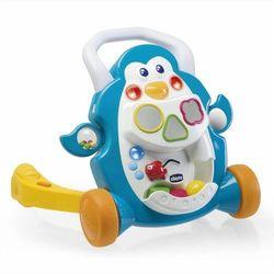 Chodzik pchacz grający pingwin, zabawka interaktywna CHICCO