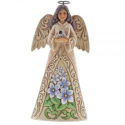 Anioł Luty patron urodzonych w lutym February Angel 6001563 Jim Shore, pamiątka narodzin, chrztu figurka dewocjonalia
