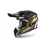 Kaski motocyklowe, AIROH KASK OFF-ROAD AVIATOR 2.3 AMS2 NOVAK CH GOLD