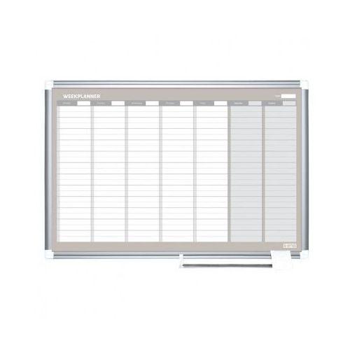Tablice i flipcharty, Planer, Tablica suchościeralno-magnetyczna do planowania tygodniowego LUX, 900x600 mm