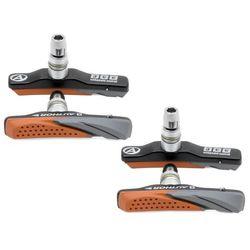 24-505010 Klocki hamulcowe Author ABS-2CC-aluminiowe czarno-pomarańczowe 4 szt (2 osie)