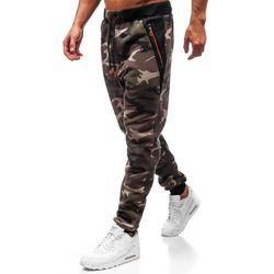 Spodnie męskie dresowe joggery moro khaki Denley TC874